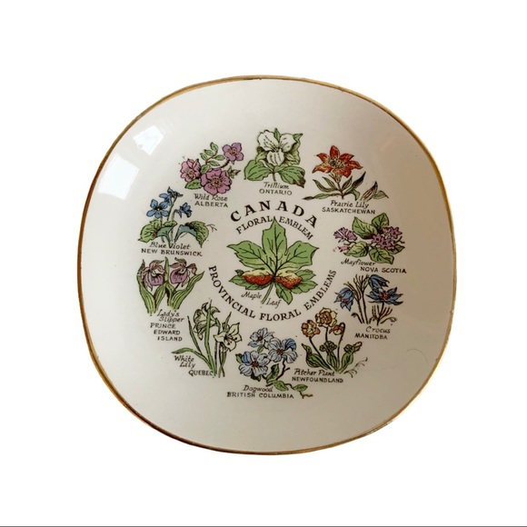 Canada Provincial Floral Emblems Collector Plate